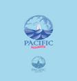 pacific yacht club logo vector image vector image