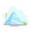 paris street view with louvre glass pyramid vector image vector image