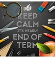 Schools out end of term vector image vector image
