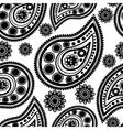 Seamless floral retro doodle pattern vector image vector image