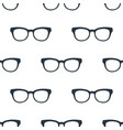 seamless glasses pattern education symbol from vector image vector image