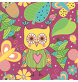 Seamless pattern with cartoon characters vector image