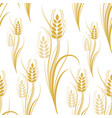 seamless pattern with yellow wheat spikelets on a vector image