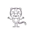 sketch contour caricature of cute tiger vector image vector image