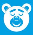 sleeping teddy bear icon white vector image vector image