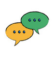 speech bubbles and dialog balloons chat message vector image