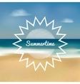 summertime beach vector image vector image