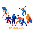 superheroes comics characters poster vector image vector image