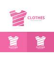 t-shirt logo combination garment vector image