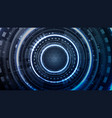 technological future interface hud cyber access vector image vector image