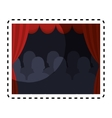 theater courtain show icon vector image