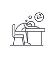 tired at work line icon concept tired at work vector image