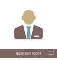 user icon of man in business suit outline icon vector image vector image