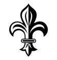 vintage heraldic lily heraldic badge logo vector image