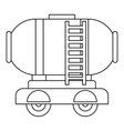 Waggon storage tank with oil icon outline style vector image vector image