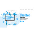 webpage template chatbot business concept vector image vector image