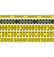 yellow caution stripes quarantine coronavirus or vector image
