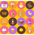 Yellow Happy Easter Seamless Pattern with Circles vector image vector image
