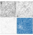 Set of Four Web Patterns vector image