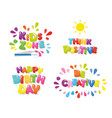 cute design for children kids zone happy vector image