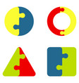 jigsaw color puzzle vector image