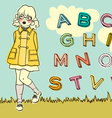 abc girl vector image
