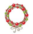 Abstract christmas wreath vector image