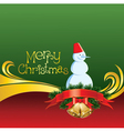 2012 christmas card with jingle bells and snowman vector image vector image