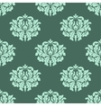 Abstract arabesque green seamless pattern vector image vector image