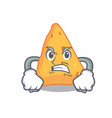 angry nachos mascot cartoon style vector image