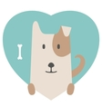 Animal set Portrait of a dog in love Flat vector image