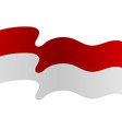 background red and white flag is flying
