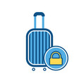 baggage lock sign luggage suitcase vector image