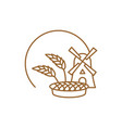 bakery logo linear style store bread emblem vector image vector image