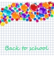 Banner with colored balloons squared paper vector image vector image