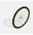 bicycle whee isometric icon vector image vector image