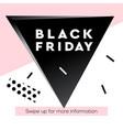 black friday super sale web banner vector image vector image