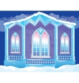Brilliant Facade Of Ice Palace vector image