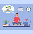 business woman doing yoga vector image vector image