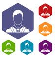 businessman with identity name card icons set vector image vector image