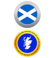 button as a symbol map SCOTLAND vector image vector image