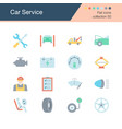 car service icons flat design collection 50 vector image
