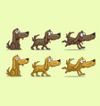 cartoon cute dog in different positions vector image vector image