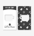coffee shop business cards vector image vector image