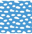 Colorful seamless pattern with white clouds Hand vector image vector image