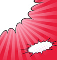 Comix style pop-art beam splash background vector image