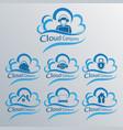 computer cloud set vector image vector image