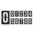 countdown numbers flip counter isolated set retro vector image vector image