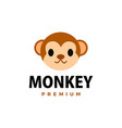 cute monkey flat logo icon vector image vector image