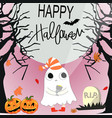 cute sweet ghost halloween cartoon vector image